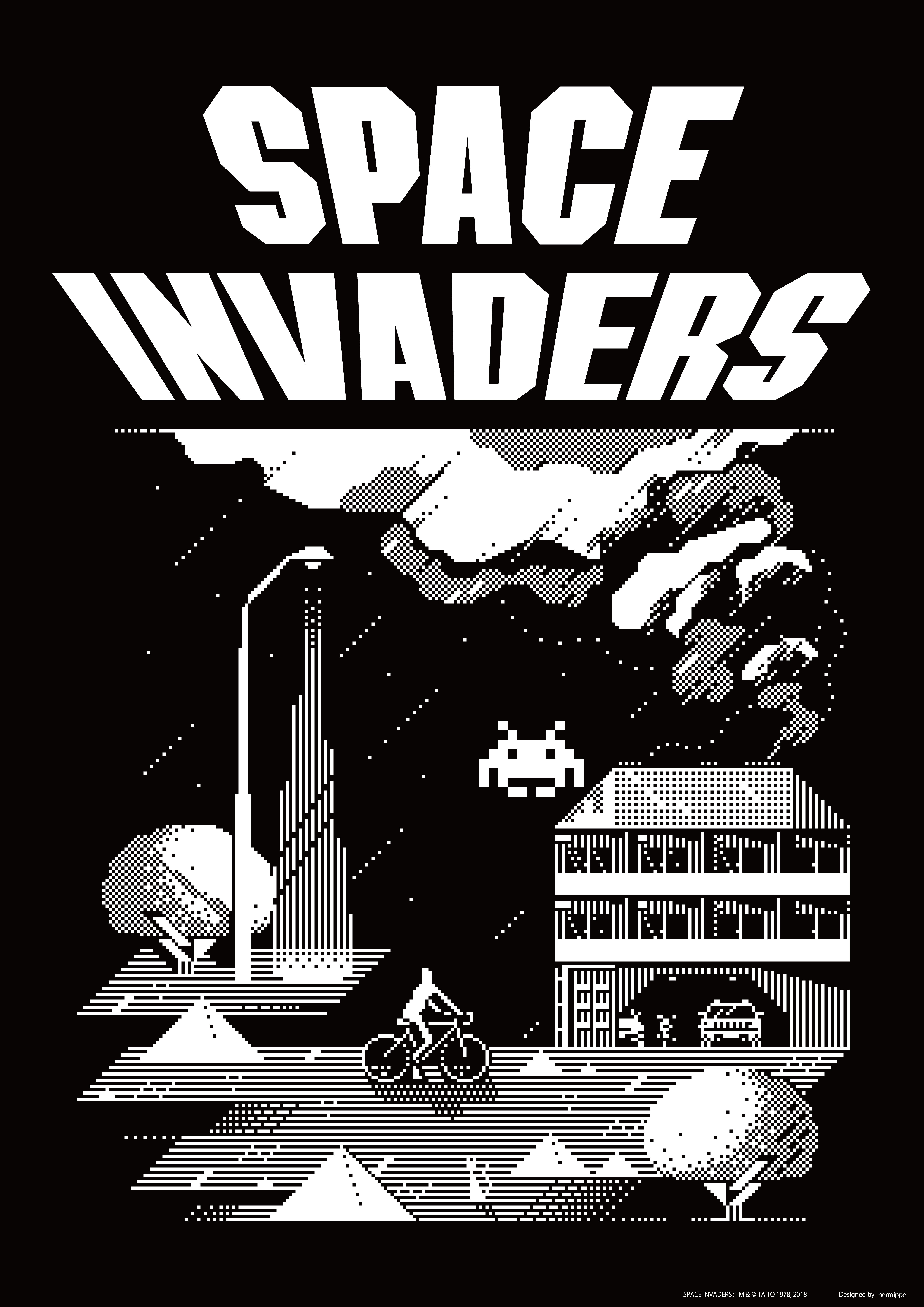シブヤピクセルアート「SPACE INVADERS」コラボポスター/TAITO